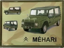 Citroen Mehari Army  Metalen Wandbord 30 x 40 cm.