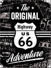 Route 66 The Original. Koelkastmagneet 8 cm x 6 cm.