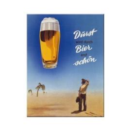 Bier Durst*** Koelkastmagneet 8 cm x 6 cm.