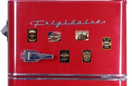 6 Harley Davidson Koelkastmagneten.