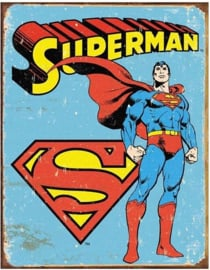 Superman Retro .  Metalen wandbord 31,5 x 40,5 cm.