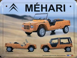 Citroen Mehari Desert Metalen wandbord 30 x 40 cm.