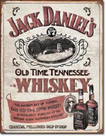 Jack Daniel's Sippin Whiskey Metalen wandbord 31,5 x 40,5 cm.