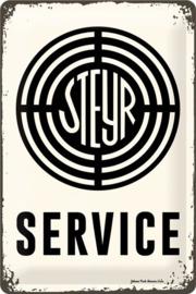 Steyr Service Metalen wandbord  20 x 30 cm.