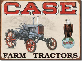 Case Tractor Metalen wandbord 31,5 x 40,5 cm.