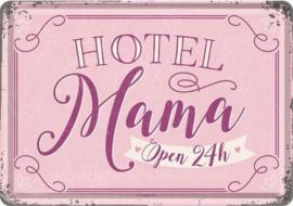 Hotel Mama Metalen Postcard 10  x 14 cm.