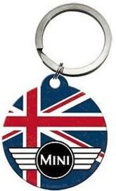 Mini Cooper Union Jack Sleutelhanger