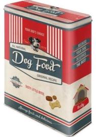 Dog Food Bewaarblik 19 x 8 x 26 cm.