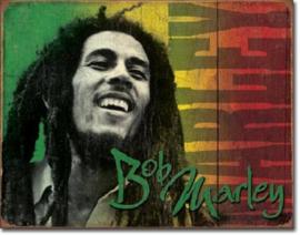 Bob Marley 2 Metalen wandbord 31,5 x 40,5 cm.