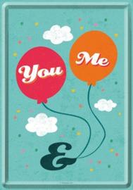 You & Me Metalen Postcard 10 x 14 cm.