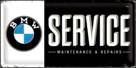 BMW Service Metalen wandbord in reliëf 25 x 50 cm