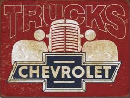 Chevy Trucks 40s  Metalen wandbord 31,5 x 40,5 cm.
