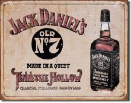 Jack Daniel's Old No 7 Metalen wandbord 31,5 x 40,5 cm.