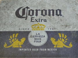 Corona Beer from Mexico  Metalen wandplaat 40 x 30 cm
