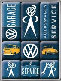 Volkswagen  Koelkastmagneten set a 9 st.