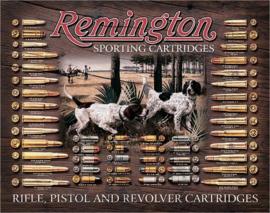 Remington Bullet Board.   Metalen wandbord 31,5 x 40,5 cm.