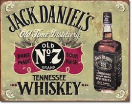 Jack Daniel's Old Time Distillery  Metalen wandbord 31,5 x 40,5 cm.