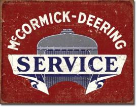 McCormick Deering Service  Metalen wandbord 31,5 x 40,5 cm.