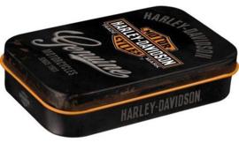 Pepermunt doosje Harley Davidson Genuine.
