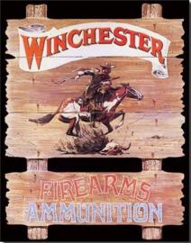 Winchester Express Rider Metalen wandbord 31,5 x 40,5 cm.