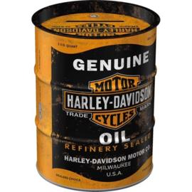 Harley Davidson Genuine Oil.  Spaarpot oilbarrel.