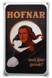 Hofnar Emaille Reclamebord 20 x 33 cm.