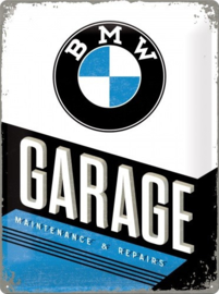BMW Garage Metalen wandbord in reliëf 30 x 40 cm