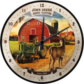 John Deere Farming TraditionsWandklok 31 cm