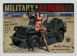 Military & Hardware Jeep Metalen wandplaat 30 x 40 cm