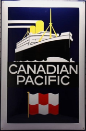 Canadian Pacific.  Emaille Reclamebord 40 x 60 cm.