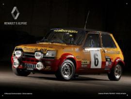 Renault 5 Alpine Metalen Wandbord 30 x 40 cm.