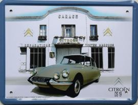 Citroen DS19  Metalen wandbord 15 x 21 cm