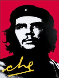 Che Guevara . Metalen wandbord 30 x 40 cm.