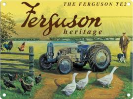 Ferguson TE20 Heritage 2   Metalen wandbord 30 x 40 cm  .