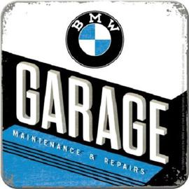 BMW Garage Onderzetters 9 x 9 cm.   5 stuks.