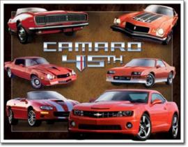 Camaro 45th Anniv.Metalen wandbord 31,5 x 40,5 cm.