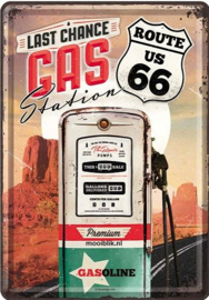 Route 66 Last Chance Gas Station Metalen  Postcard 10 x 14 cm