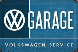 VW Garage.  Metalen wandbord in reliëf 40 x 60 cm.