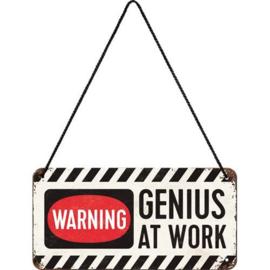Genius at Work Metalen wandbord 10 x 20 cm.