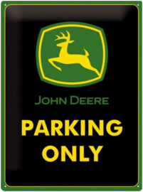 John Deere  Parking Only Metalen wandbord in reliëf 30 x 40 cm