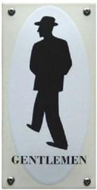 Gentleman Emaille Toiletbordje 7 x 14 cm.