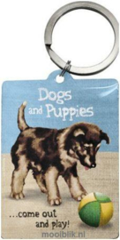 Dogs and Puppies Sleutelhanger.