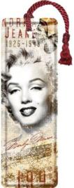 Marilyn Monroe 1949 Metalen boekenlegger 15 x 5 cm