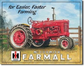 Farmall For Easier Faster Farming Metalen wandbord 31,5 x 40,5 cm.