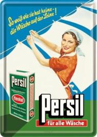 Persil für alle Wäsche  Metalen Postcard 10  x 14 cm.