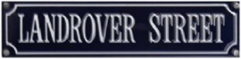 Landrover Street  Emaille  bordje.