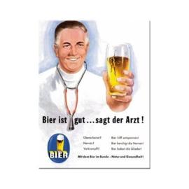 Bier ist gut***Koelkastmagneet 8 cm x 6 cm.