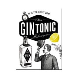 Gin Tonic. Koelkastmagneet 8 cm x 6 cm.