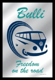 Volkswagen  Bulli Freedom  Spiegel 22 x 32 cm.