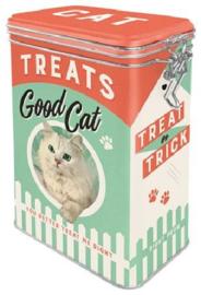 Cat Treats Bewaarblik met clipsluiting.